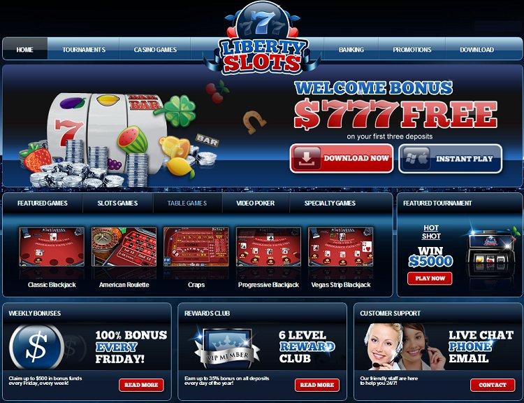 Liberty Slots Casino Get Bonuses Up To Us777